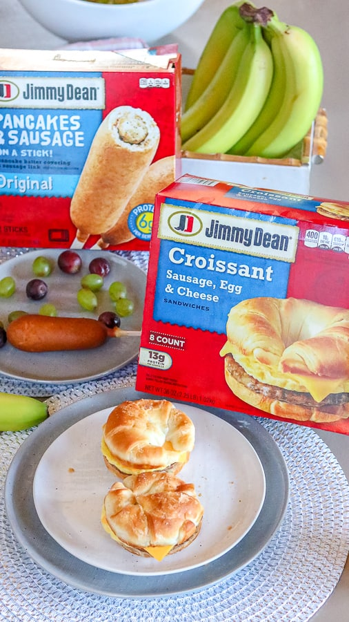 On the go breakfast with Jimmy Dean