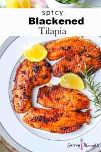 Blackened Tilapia Recipe Pinterest Pin