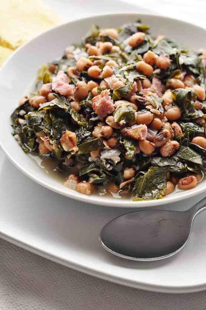 Southern Black Eyed Peas and Collard Greens