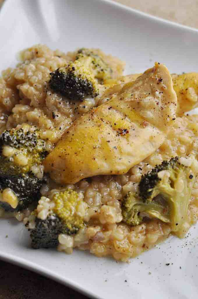 Chicken Broccoli Casserole with rice and cream of mushroom soup