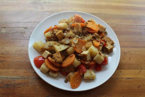 poêlée légumes tofu