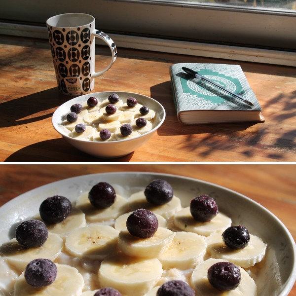 petit déjeuner vegan porridge