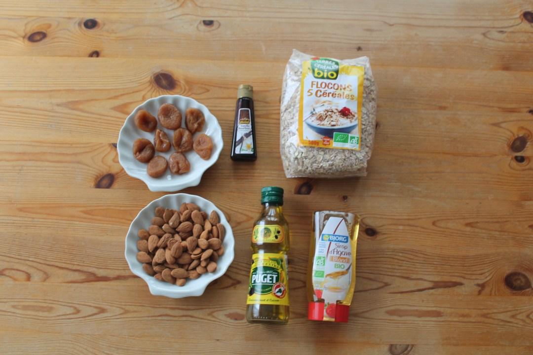 muesli abricot amande ingrédients