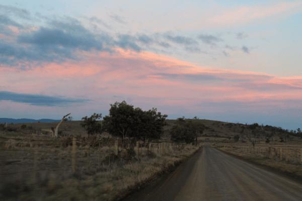 apres coucher soleil tasmanie