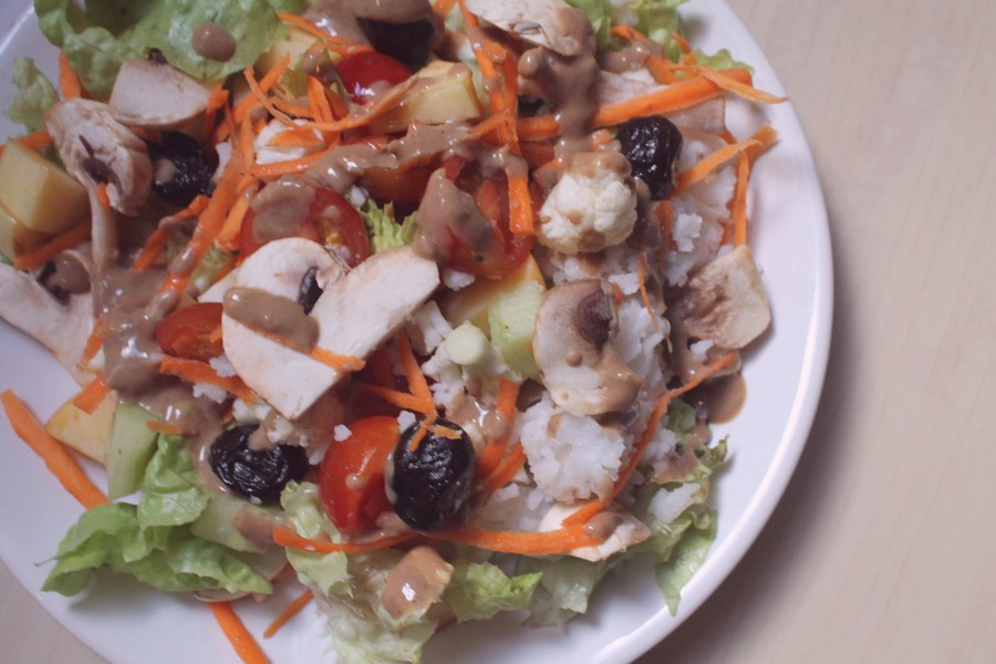 salade composée une journée dans mon assiette