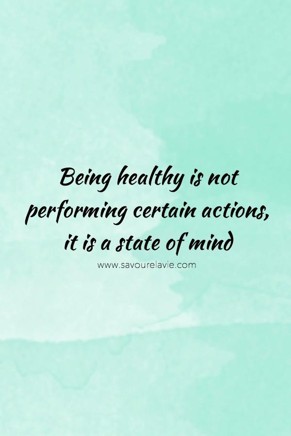 quote être healthy