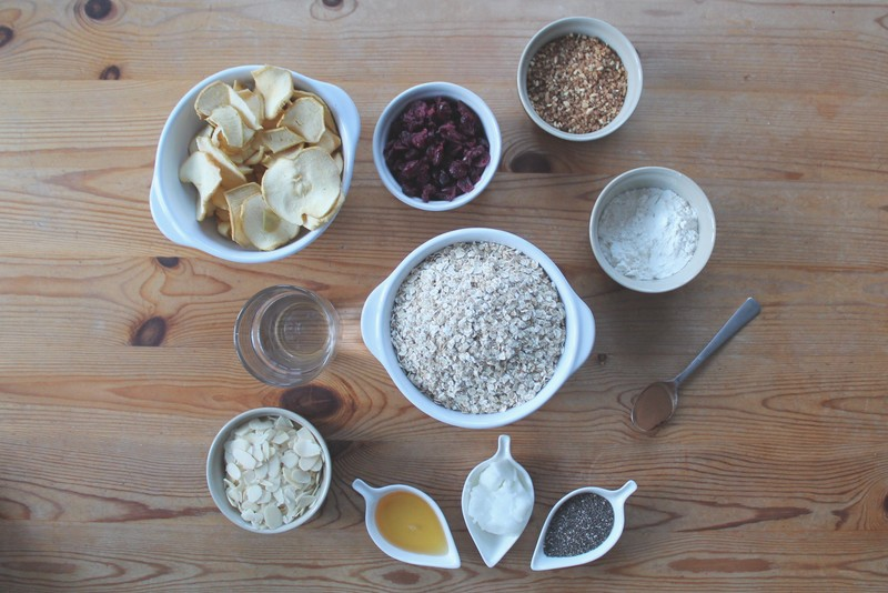 recette-granola-pomme-cranberry-vegan-ingredients