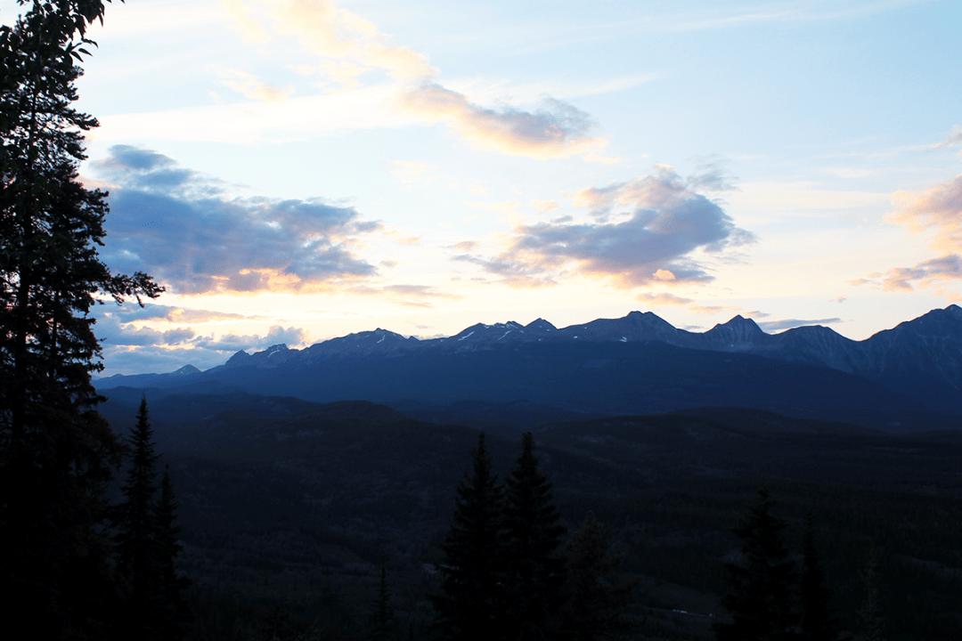 coucher de soleil à Jasper canada