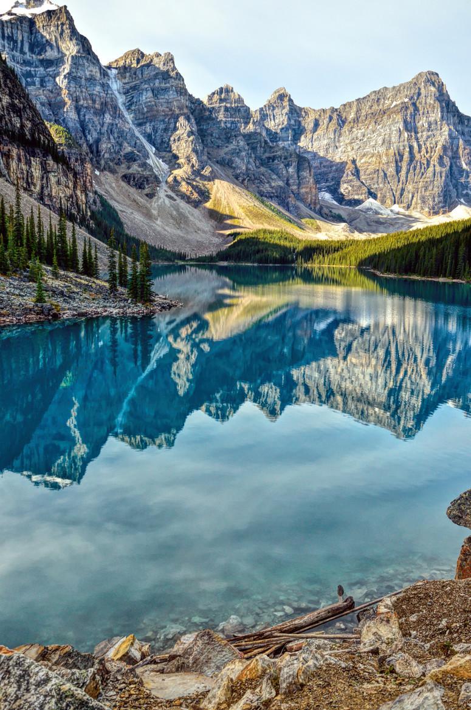 canadian rockies region montagneuse