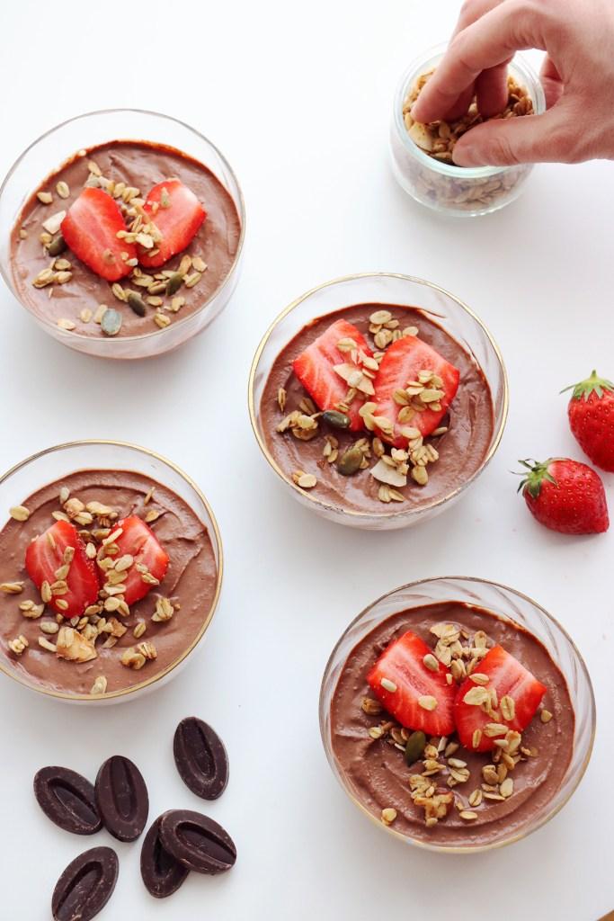 recette de creme dessert chocolat vegan