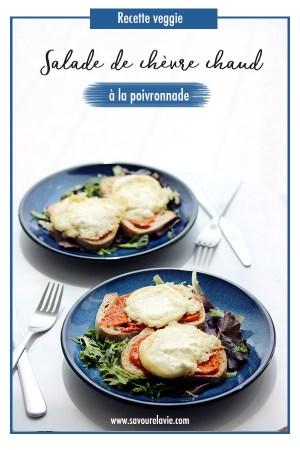 salade toasts au chevre chaud vegetarien