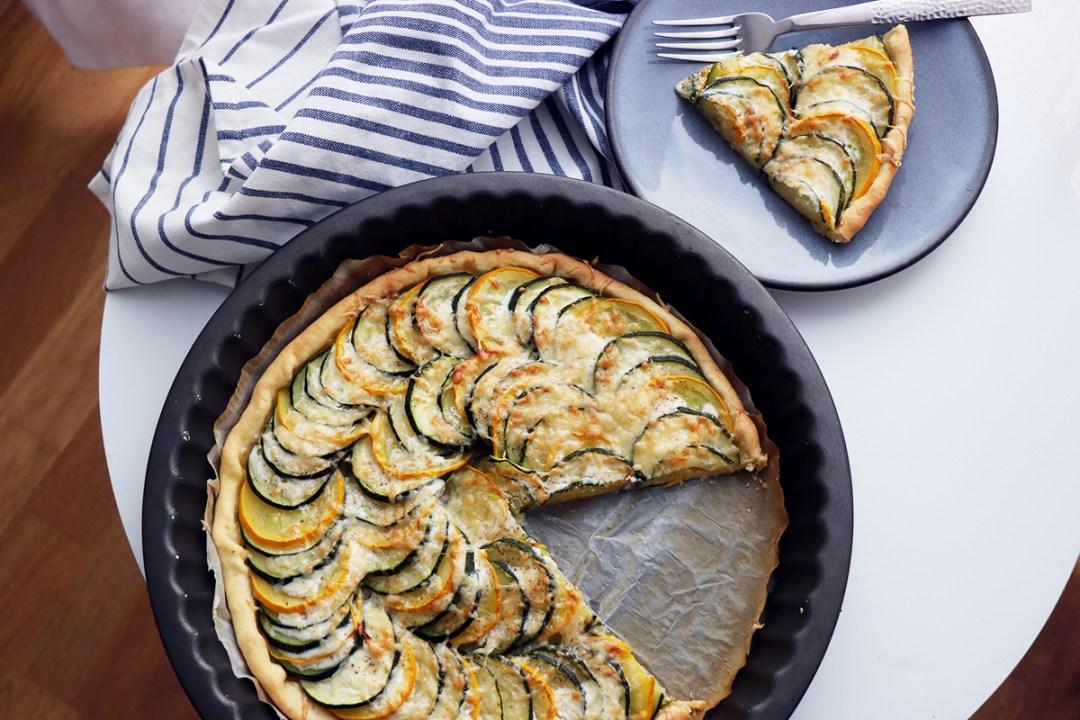 recette tarte courgette soja