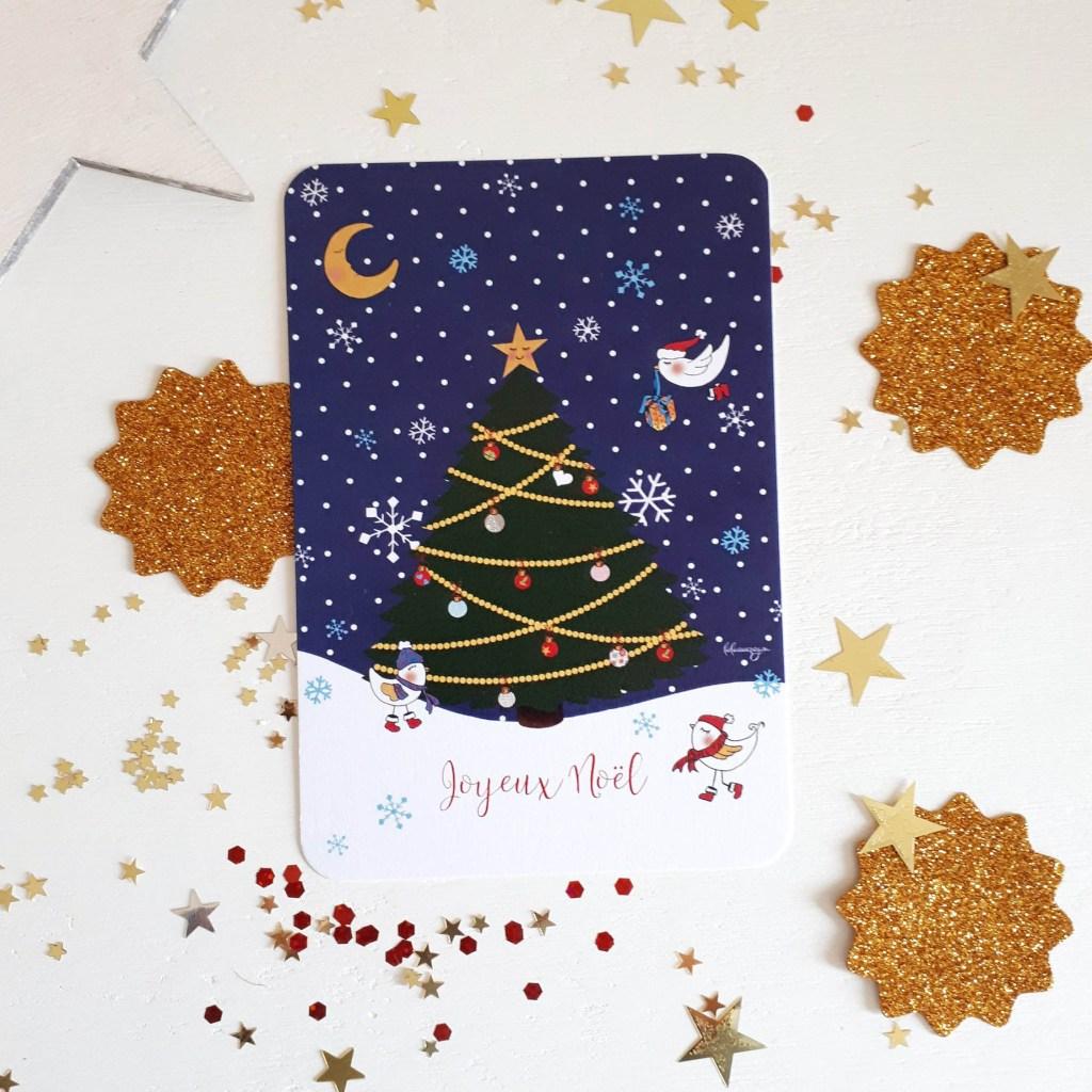 cadeau noel responsable createur etsy carte postale