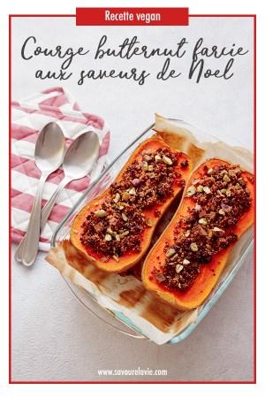 repas-noel-vegan-courge-farcie-pinterest