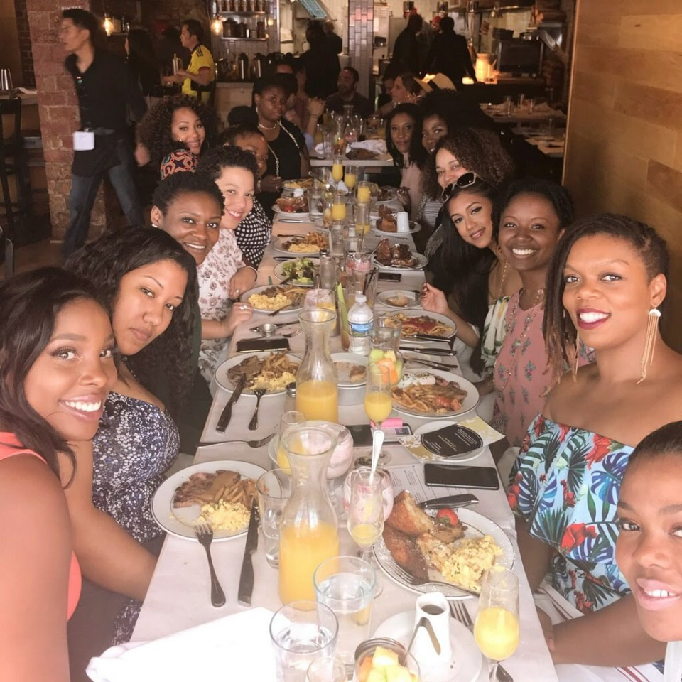 women brunching