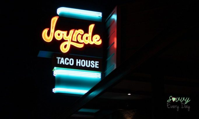 Located next to Postino, Joyride is a delicious taco house with modern flair.