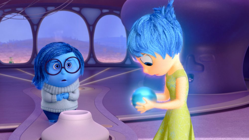 Pictured (L-R): Sadness, Joy. ?2015 Disney?Pixar. All Rights Reserved.