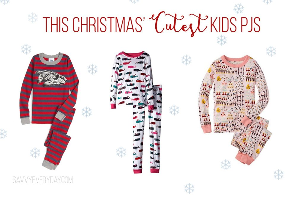 Christmas PJ collage with three options