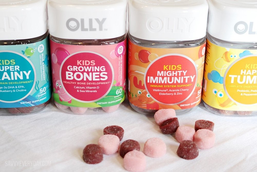 line up of Olly Vitamins boosts2