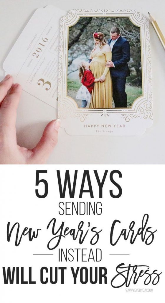 5 Ways Sending New Year's Cards Instead Will Cut Your Stress