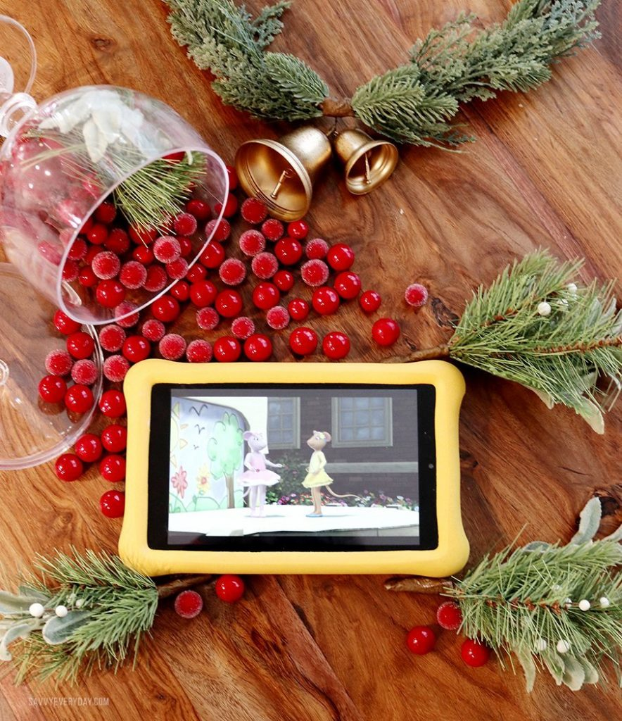 Amazon Fire HD 8 Kids Tablet holiday flatlay