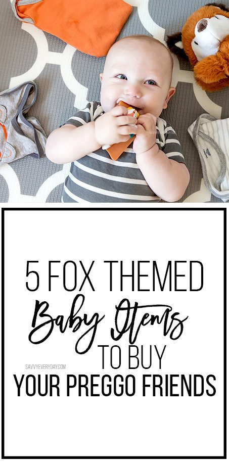 (ad) I'm seeing more and more fox themed baby items, and I'm pretty sure they'll be on-trend for 2018 so I'm sharing 5 of my favorites. @gerberchildrenswear