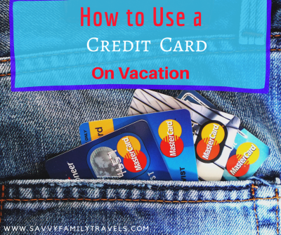 Credit card on vacation