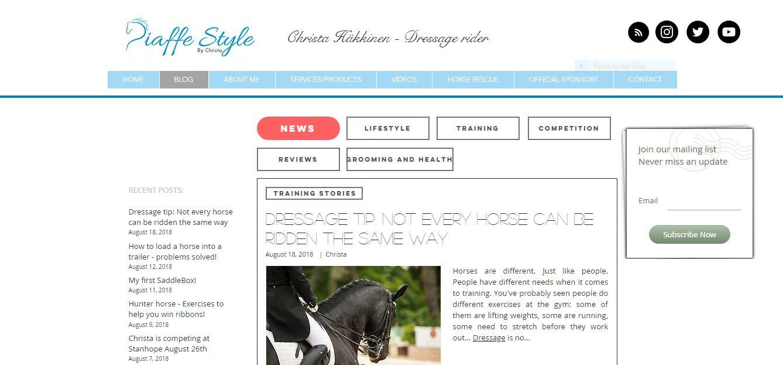 Piaffe Style Equestrian Blog