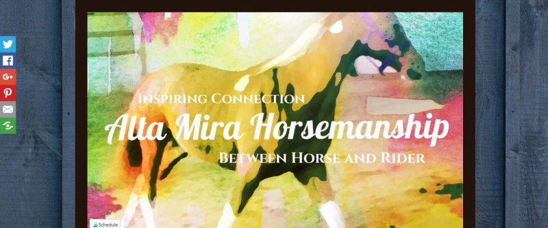 Alta Mira Horsemanship - Top Equestrian and Horse Blogs to Follow - 2019