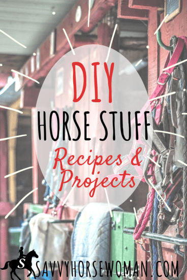 DIY Horse Stuff - Easy Horse Care Recipes and Projects from Savvy Horsewoman