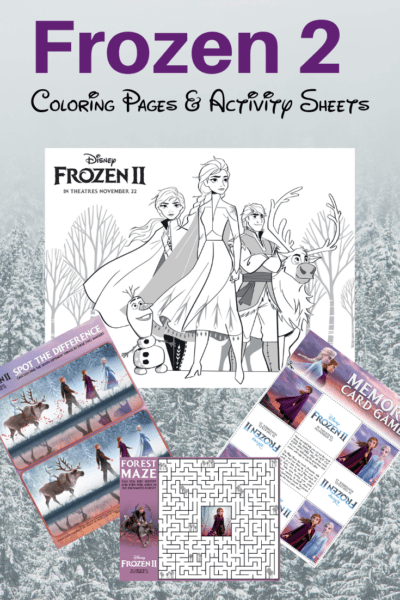 Frozen 2 coloring pages activity sheets free printable, fun coloring pages