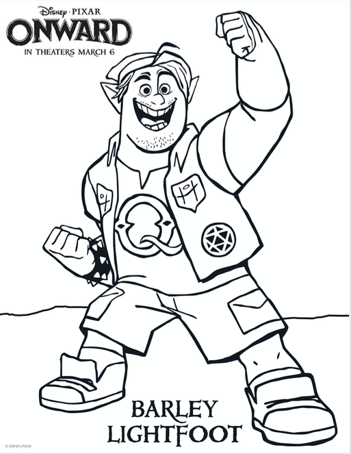 Disney Pixar Onward Coloring Pages Printable Free