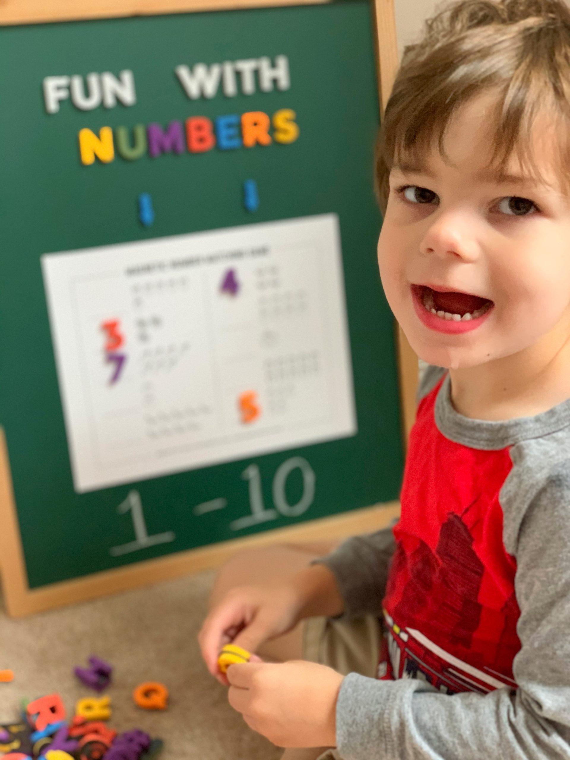 Printable Learn To Count Worksheet For Preschool
