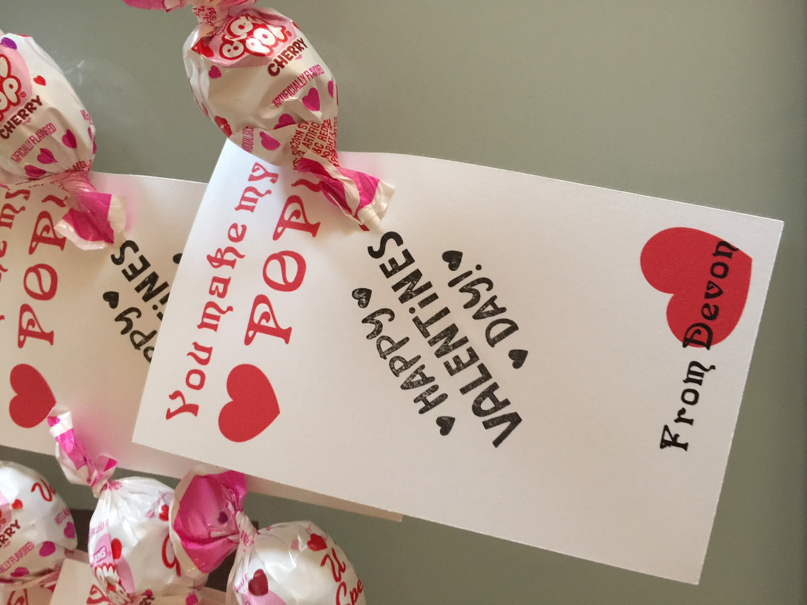 Classroom Valentine Treats With FREE Printable Cards