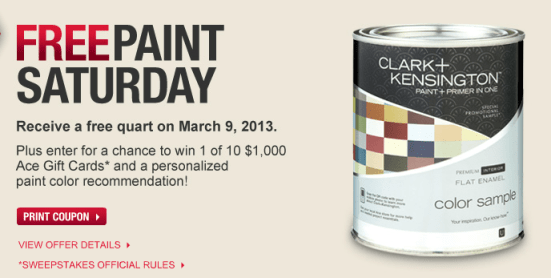 Free Can of Paint