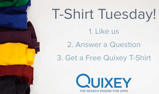 Free T-Shirt from Quixey