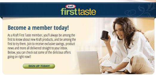 Kraft First Taste Free Coupons
