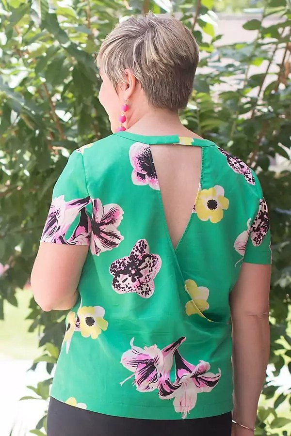 open back floral top
