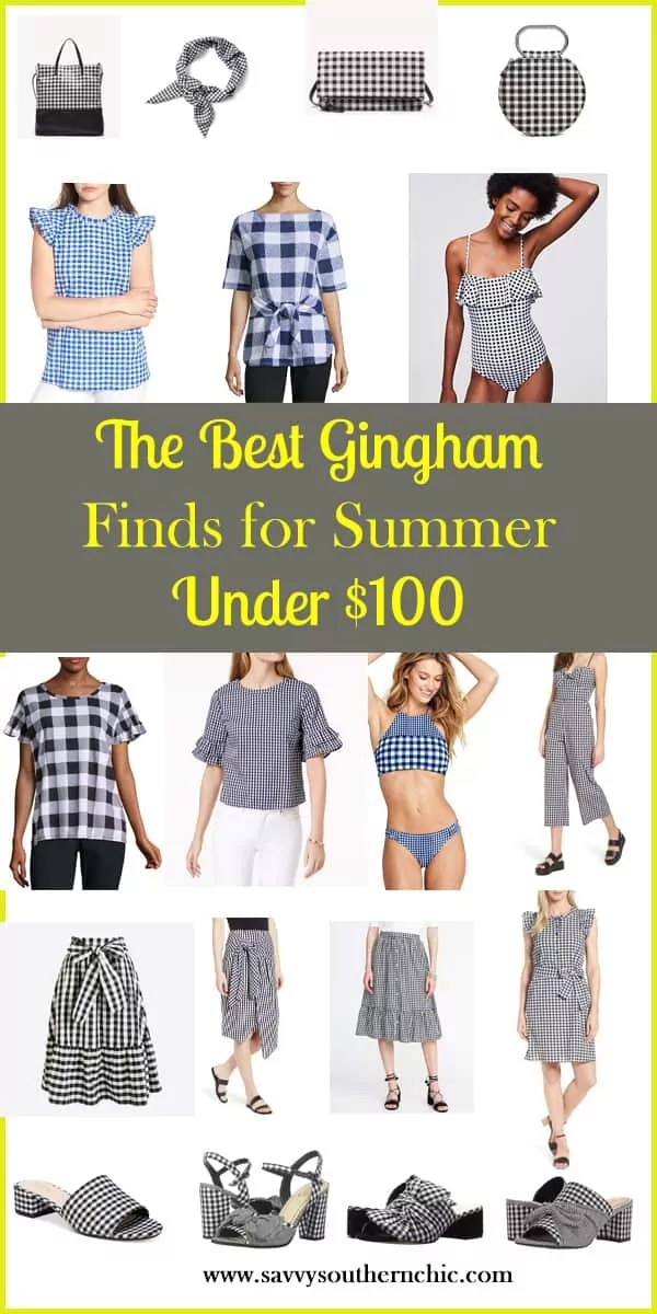 the best gingham finds for summer under $100