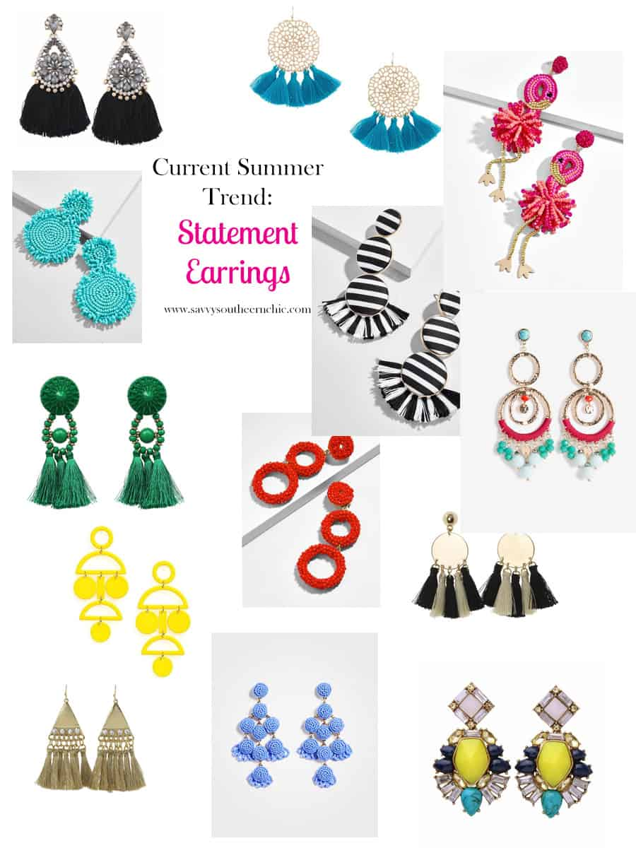 current summer trend- statement earrings