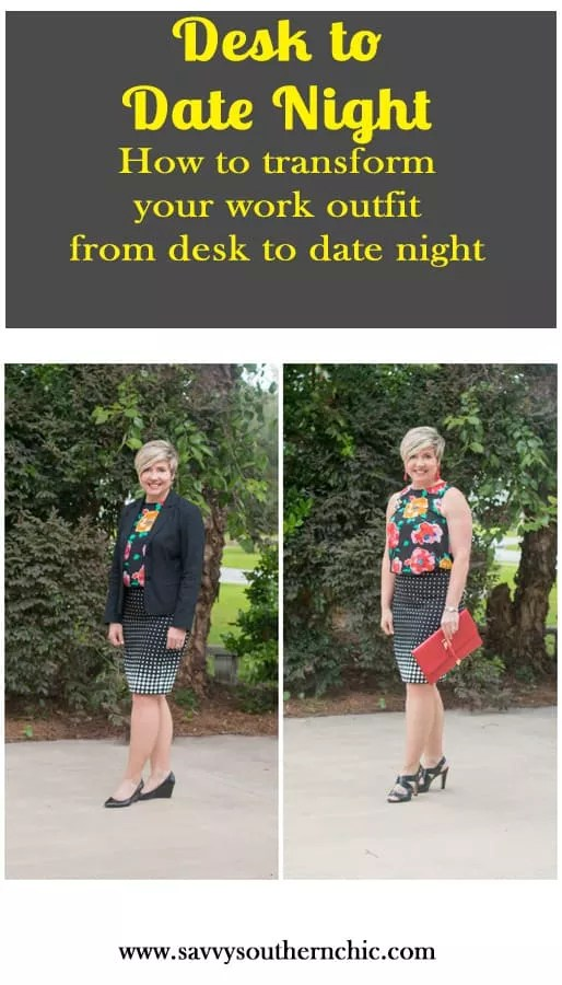 desk to date night outfit