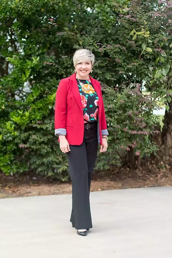 red blazer for fall