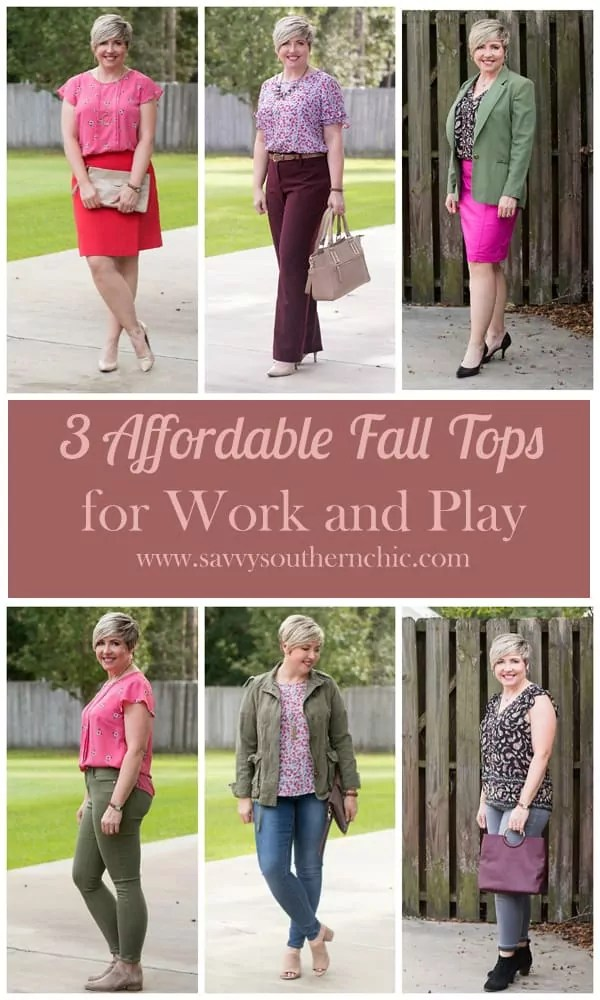affordable fall tops, outfit ideas, work outfits, casual outfits