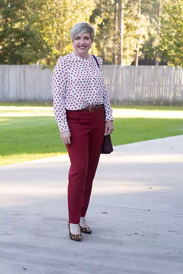 fall blouse, office outfit