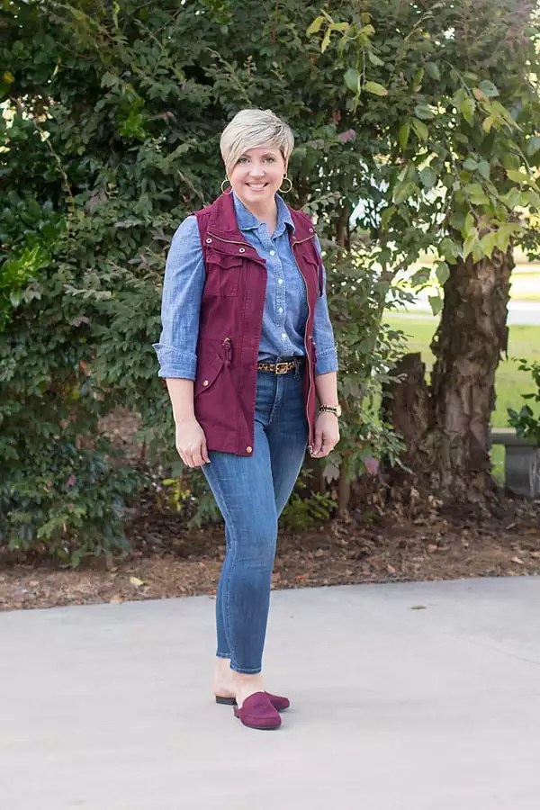 loafer mules, jeans outfit