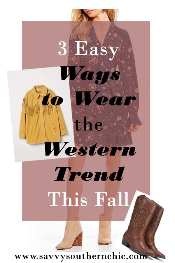 Ways to Wear the Western Trend