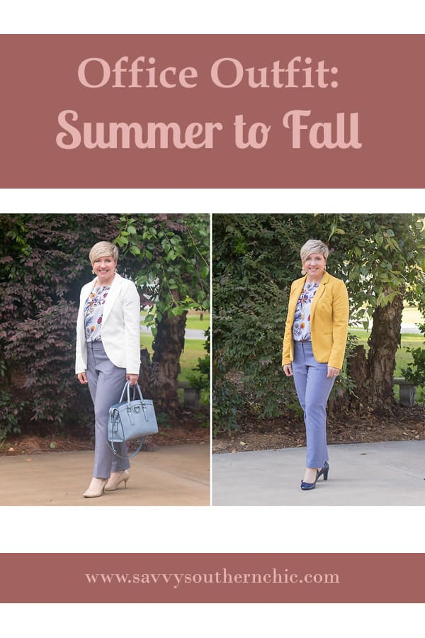 office outfit from summer to fall