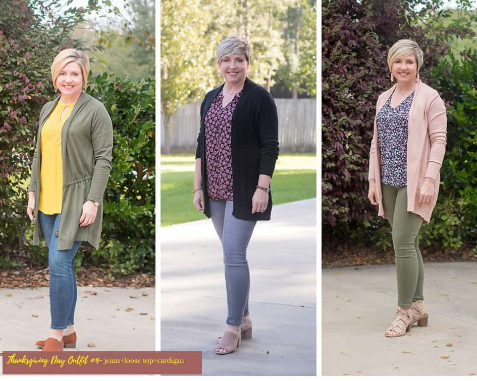 jeans and cardigan dressy casual outfits