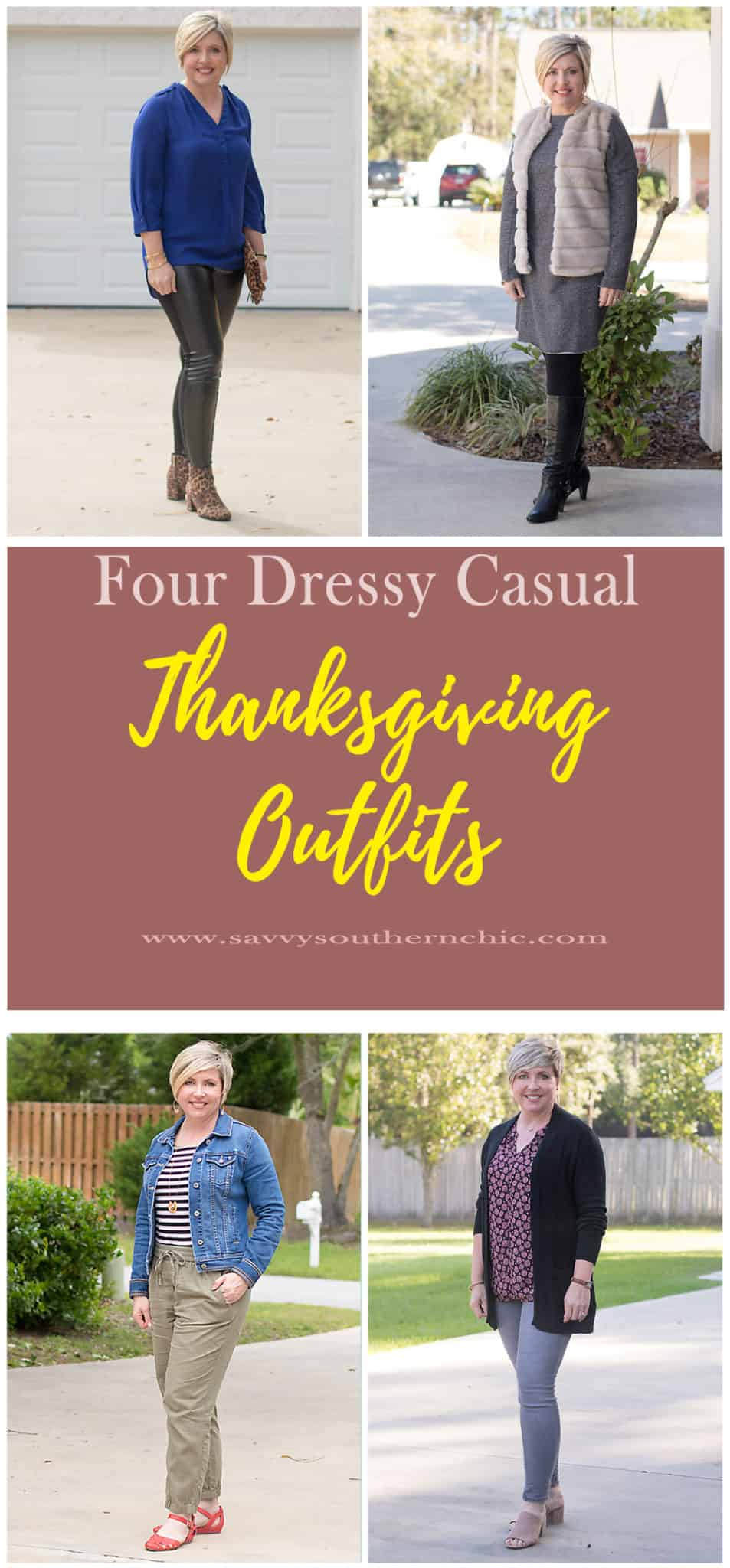 what to wear Thanksgiving, dressy casual outfits
