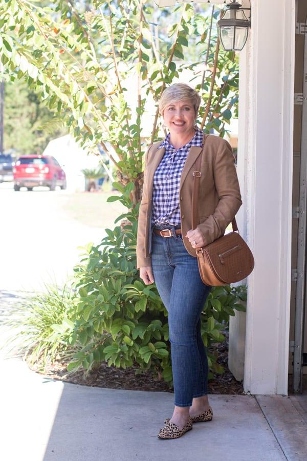 ankle jeans, saddle bag